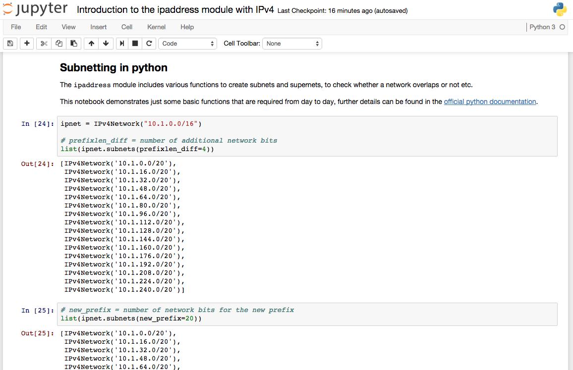 Introduction to the python ipaddress module